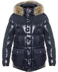 'frey' Quilted Down Jacket Blue