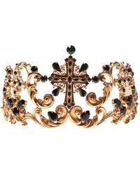 Dolce & Gabbana Embellished Tiara - Metallic
