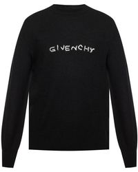 Givenchy Logo Embroidered Sweater - Black