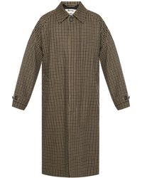 Acne Studios Checked Coat - Natural