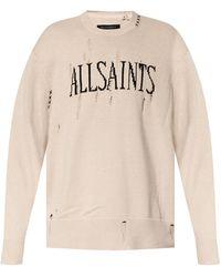 AllSaints 'destroy' Ribbed Sweater - Natural