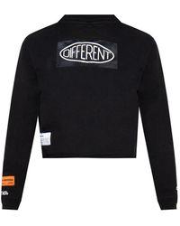 Heron Preston Cropped T-shirt With Print - Black