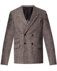 Bottega Veneta Double-breasted Coat - Grey