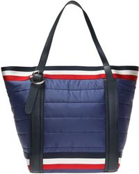 Moncler Quilted Shopper Bag - Blue
