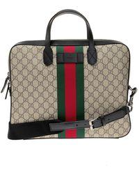 Gucci 'GG Supreme' Canvas Briefcase - Multicolour