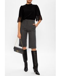 See By Chloé High-waisted Shorts Gray