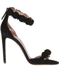 Alaïa - Suede High Heel Sandals - Lyst