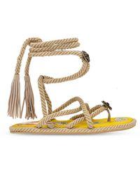 Etro Woven Sandals Beige - Natural