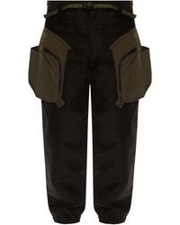 White Mountaineering Trousers With Several Pockets - Green