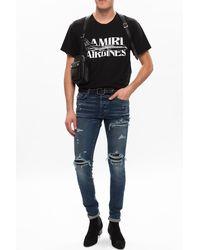 Amiri Distressed Skinny Jeans - Blue