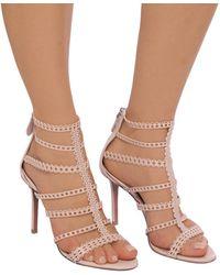 Alaïa Heeled Sandals Pink