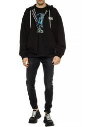 DIESEL Reversible Hooded Jacket Black