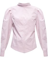 Isabel Marant Cotton Shirt Purple