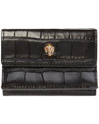 Alexander McQueen Skull Motif Wallet - Black