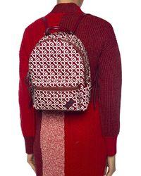 Dolce & Gabbana Nylon Vulcano Backpack With Dg Mania Print - Red