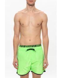DIESEL Swim Shorts With Logo - Green