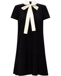 RED Valentino Dress With Collar Black