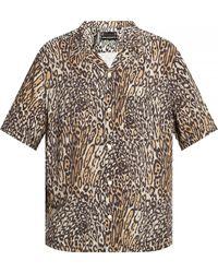 AllSaints 'meso' Animal-motif Shirt - Grey