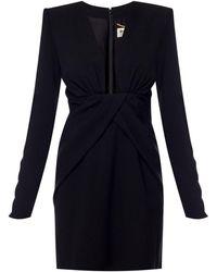 Saint Laurent Tie-up Dress - Black