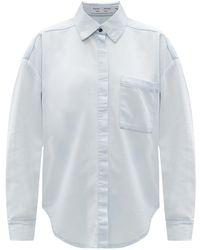 PROENZA SCHOULER WHITE LABEL Denim Shirt Light Blue