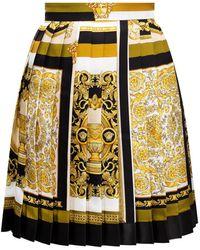 Versace Pleated Skirt Multicolour