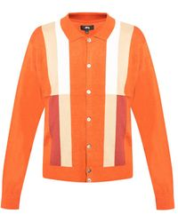 Stussy Cardigan With Buttons - Orange