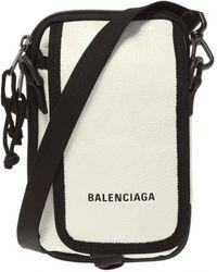 Balenciaga Branded Shoulder Bag - White