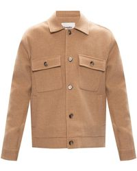 Nanushka Wool Jacket Beige - Natural