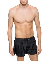 DIESEL Logo Swim Shorts - Black
