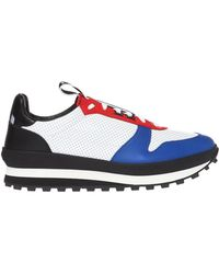 Givenchy White And Red Tr3 Runner Leather Trainers