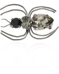 Etro Spider-motif Brooch - Metallic