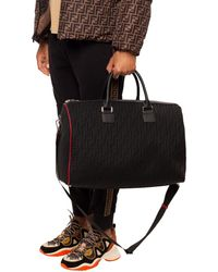 Fendi Logo Travel Bag Black