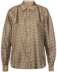 Burberry - Silk Shirt With Monogram - Lyst