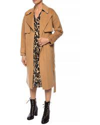 Diane von Furstenberg Fann Wool Belted Coat - Natural