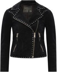 AllSaints 'dalby' Suede Jacket Black