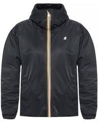 K-Way Fur-trimmed Jacket Black