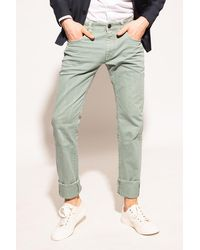 Etro Raw Edge Jeans Green