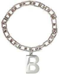 Balenciaga Branded Necklace - Metallic