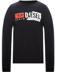 DIESEL Long-sleeved T-shirt Black