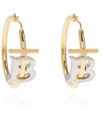 Burberry Earrings With Logo - Metallic