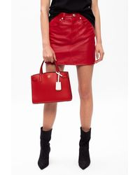 Tory Burch Walker Small Satchel - Red