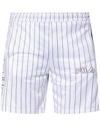 Fila Shorts With Logo - White