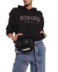 KENZO 'ikat' Belt Bag With Logo Black