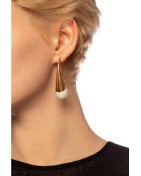 Marni Blow Up Drop-shaped Pendant Earrings - White