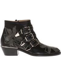 Chloé Susanna' Heeled Boots - Black