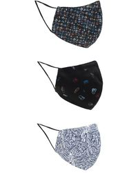 Paul Smith Branded Mask Three-pack - Blue