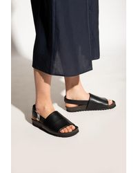 Samsøe & Samsøe Leather Sandals - Black