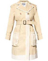 Moschino Double-breasted Trench - Natural