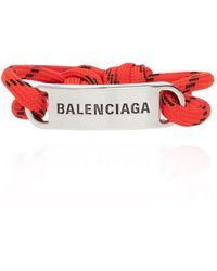 Balenciaga Bracelet With Logo Red