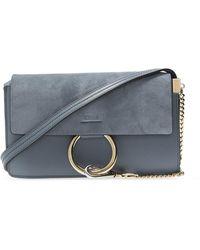 Chloé 'faye' Shoulder Bag Blue